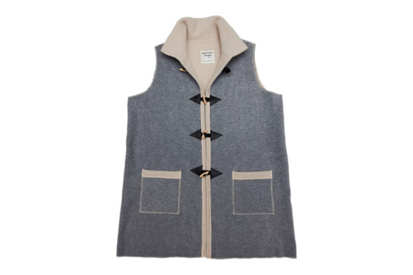 Sleeveless Duffel Coat with Collar